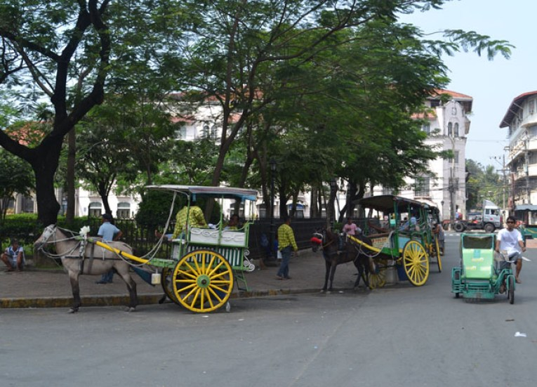 Tour Touts at Intramuros. Manila Tourism, Philippines, Southeast Asia