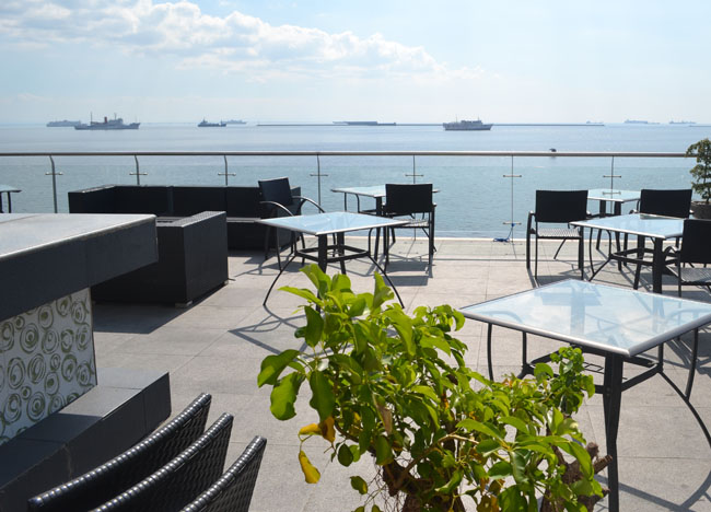 Manila Tourism - White Moon Bar - Ocean Park Manila Bay - Sunsets and Nightlife in Manila Philippines.