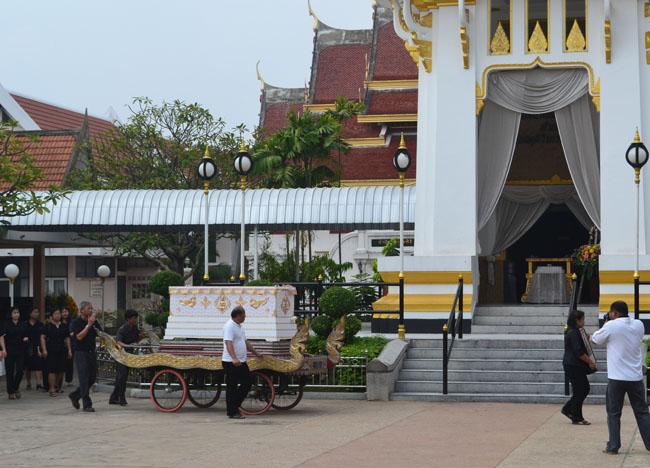 Temple Funeral at Wat Tri Thotsathep Worawihan, Bangkok Southeast Asia
