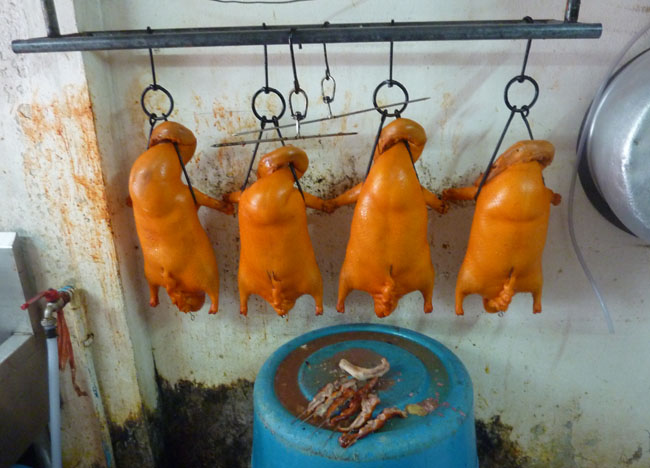 Hanging Ducks, Roast Duck Restaurant in Bangkok, Southeast Asia