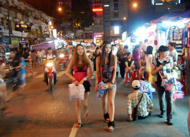 Ben Thanh Night Market, Ho Chi Minh City Centre Saigon, Southeast Asia