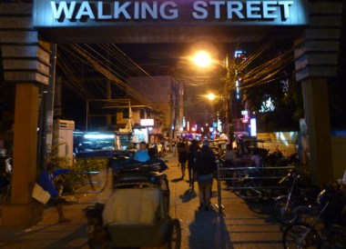Fields Walking Street on Stopover at Clark Airport, Southeast Asia
