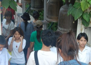 Bashing Gongs, New Year Temple Tour in Bangkok, Southeast Asia