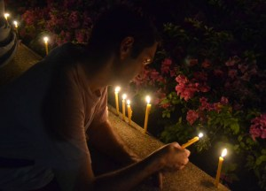 Lighting Candles Benjakiti, Fathers Day Thailand, Southeast Asia