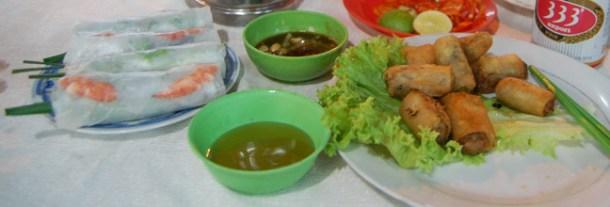 Gỏi cuốn Summer Rolls, Vietnamese Food, Eating Ben Thanh Night Market
