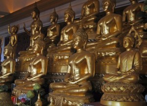 Buddhas Golden Mount,, New Year Temple Tour in Bangkok, Southeast Asia