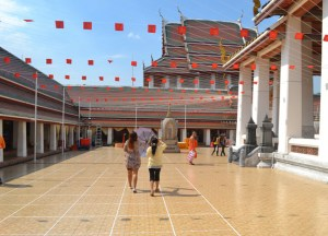 Wat Saket Temple Tour, New Years Day in Bangkok, Southeast Asia