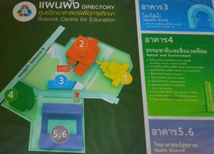 Attractions Map, Bangkok Planetarium, Thailand, Southeast Asia