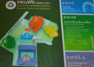 Attractions Map, Bangkok Planetarium, Thailand, Southeast Asia