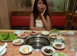 Bowls of Banchan at Doo Rae, Sukhumvit Plaza, Bangkok Korean Barbecues