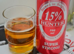 15% alc Hunter Super Strong Beer in Malaysia, Southeast Asia