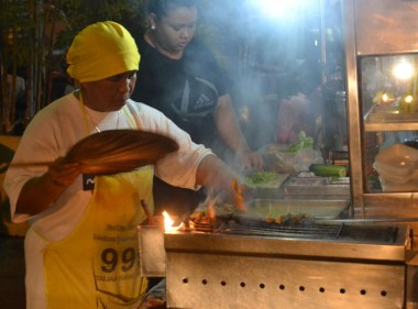 Chicken Satay at Night Time Street Food, Georgetown, Southeast Asia