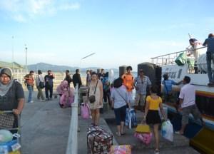 Arrival at Satun Pier. Langkawi to Bangkok via Satun, Southeast Asia
