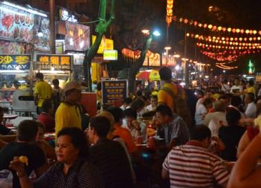 Night Life Eating, Jalan Alor Food Street, Kuala Lumpur Southeast Asia