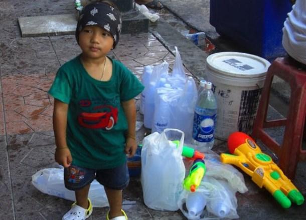 Kids, Songkran on Khao San Road Bangkok, Thai New Year Southeast Asia