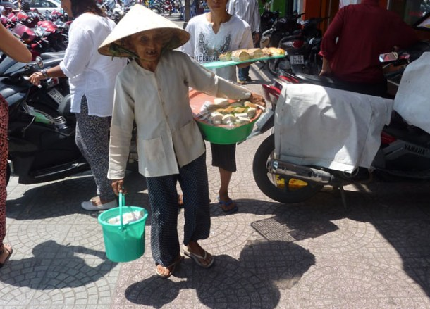 Vietnamese Lady in Hat, Ho Chi Minh City Centre Saigon, Southeast Asia