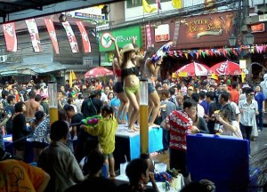 Bars, Songkran on Khao San Road Bangkok, Thai New Year Southeast Asia