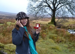 Engagement Ring, PS I Love You Engaged in Wicklow Mountains Sallys Gap