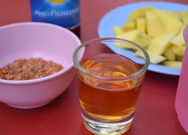 Shot Glass, Ya Dong Street Liquor, Thai Alcohol, Bangkok, Thailand