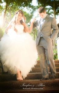 Allan Wilson and Fanfan Narach, Wedding in Bali Ubud, Travel Bloggers
