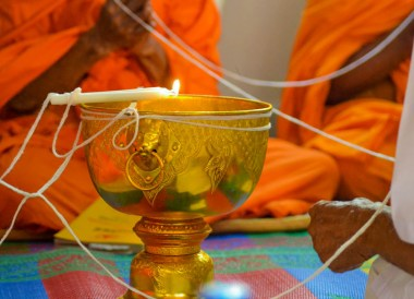 Ceremonial Bowl, String Bracelets Thailand, Sai Sin Sacred Thread, Asia