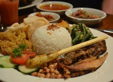 Nasi Campur, Bebek Bengil, Best Restaurants in Ubud Centre, Bali Food
