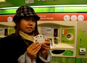Metro tickets, London to Paris by Eurostar, Montparnasse Station