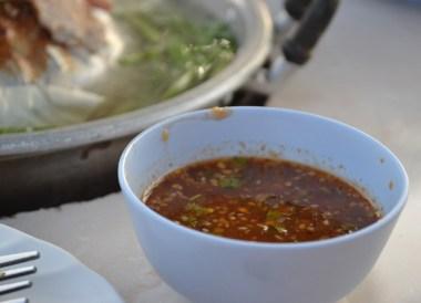 Nam Jim Moo Kata Dip, Nang Rong Food Tour in Isan, Eating in Thailand
