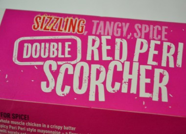Red Peri Scorcher. McDonalds in Asia Comfort Foods while Travelling