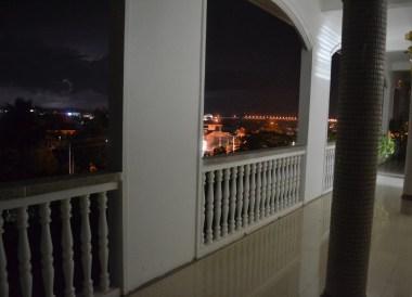 Dark Night Time Views, Champasak Palace Hotel Pakse Hotel Review Laos