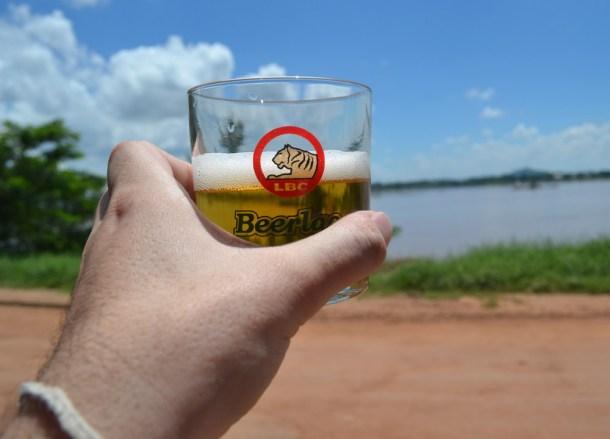 Beer Lao Mekong River, Thai Visa Run to Savannakhet Laos from Bangkok