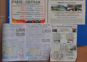 Bus Timetable, Prices, Pakse to Bangkok by Bus, Laos to Thailand, Asia