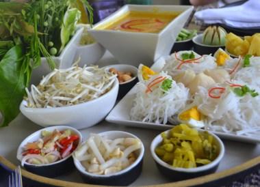 Khanom Jeen, Eating at Sala Phuket Resort Review, Phuket Pool Villas