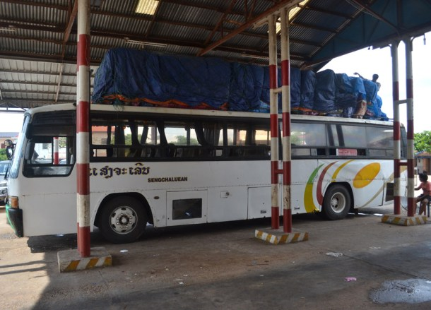 Lao Local Bus, Savannakhet to Pakse by Bus, Travel in Southern Laos
