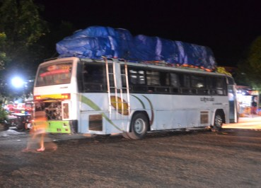 Night Bus Journey Savannakhet to Pakse by Bus, Travel in Southern Laos