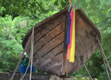 Fixing Wooden Boat, Village Coconut Island Resort Phuket Hotel Review