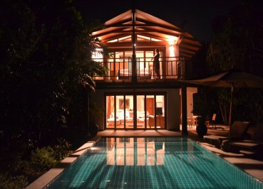 Pool Villa at Night, Village Coconut Island Resort Phuket Hotel Review