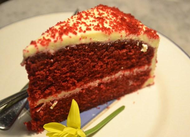 Red Sponge Cake, Mr Jones Orphanage Bangkok, Siam Centre, Thailand