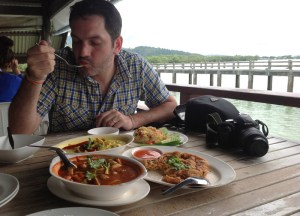 Eating Phuket Cuisine, Laem Hin Seafood Restaurant, Phuket, Thailand
