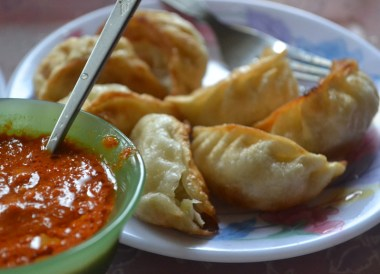 Bangkok Vegetarian Festival in Chinatown, Fried Momos