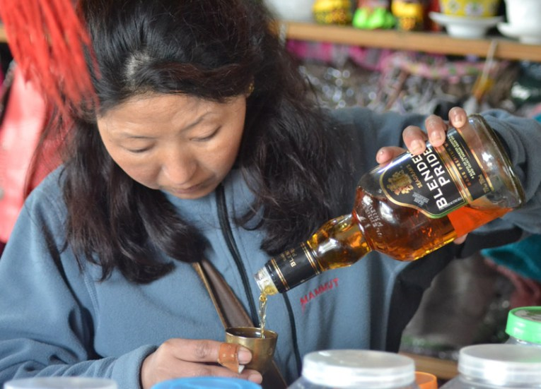 Blenders Pride Whisky, Himalayan Food, Eating in the Himalayas, Sikkim