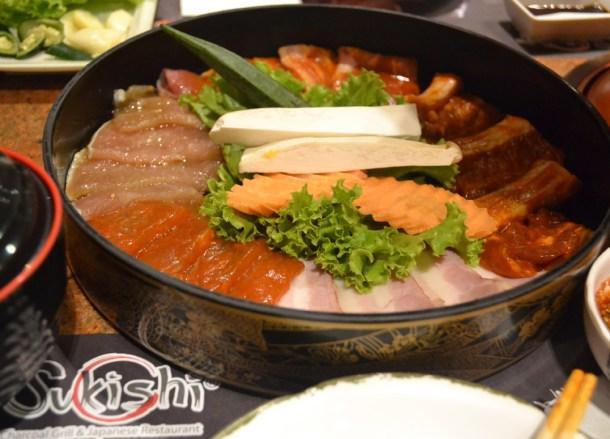 Mixed Meat Set, Sukishi Korean Barbecue Bangkok, Japanese Food