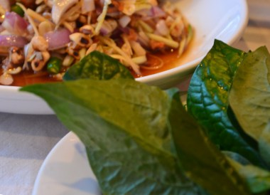 Leaf Wraps for Miang Kham, Northern Thai Food, Lanna Food, Eating in North Thailand, Asia
