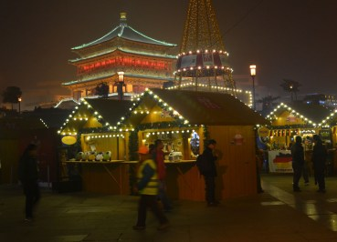 Christmas in Xian, Drum Tower Area, Christmas Village