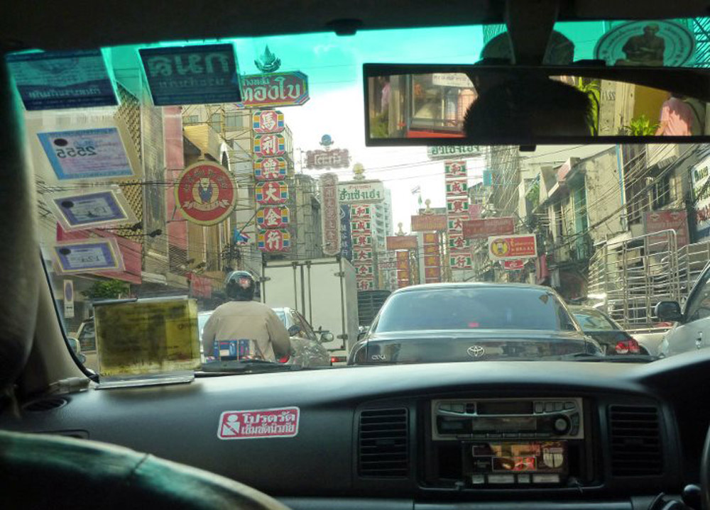 Chinatown Yaowarat Road, Metered Bangkok Taxis, Travel in Bangkok