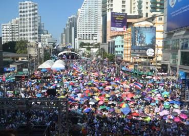 Protest Site on Asoke Road, Simplifying Bangkok Protests, Expat Living in Bangkok