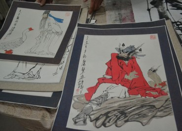 Chinese Character Paintings, Tourist Scam in Xian China, Calligraphy Art