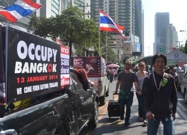 Occupy Bangkok 2014, Protests in Central Bangkok Shutdown Bangkok