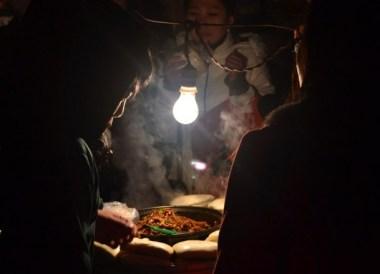 Eating Street Food Burgers, Xian Food and Eating in Xian, Shaanxi, China