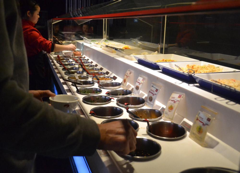 Condiment Canteen, Haidilao Sichuan Hot Pot, Xian, China